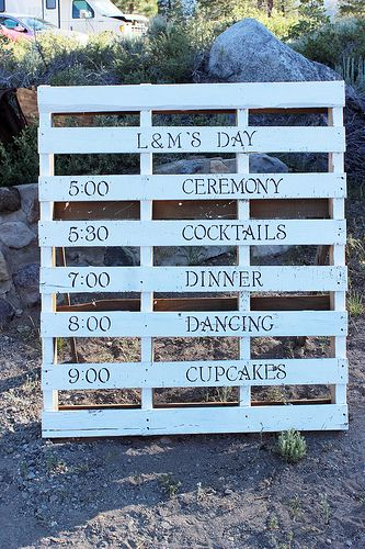 Itinerary wood pallets