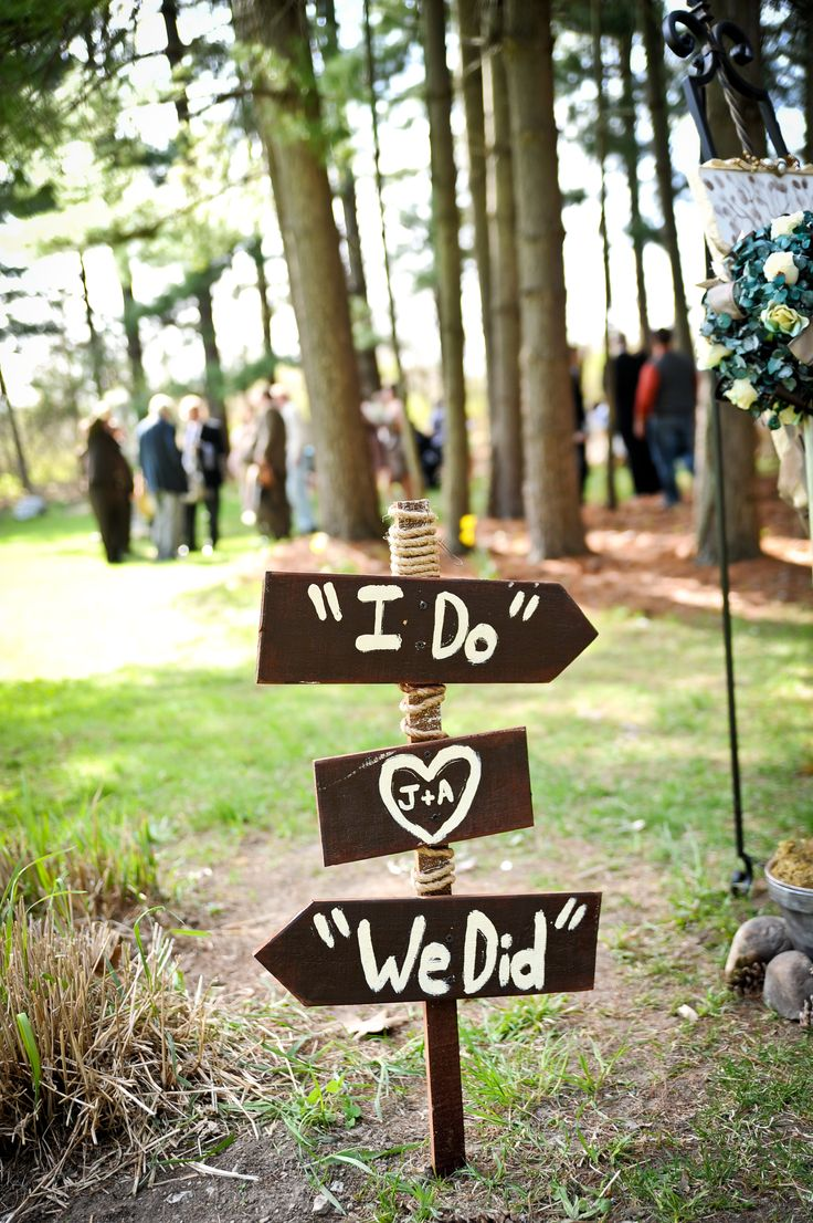 Wedding DIY Direction Signs