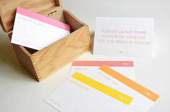 FREE PRINTABLE: Guest book advice cards with a sign